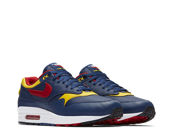 Nike Air Max 1 Premium Navy Red Sulfur 875844-403