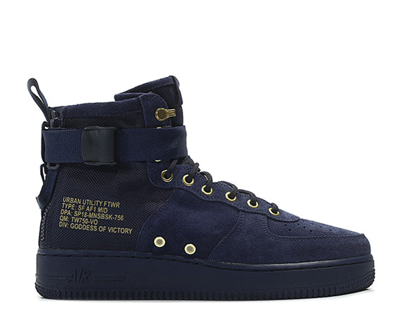 3be9ecd9ee3a Nike SF Air Force 1 Mid Obsidian 917753-400 - Online Sneaker Store ...