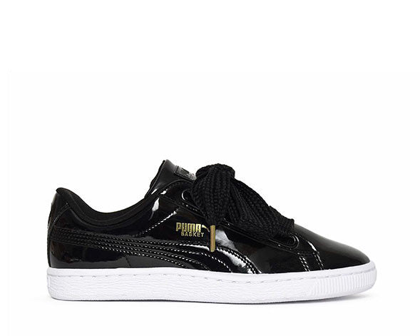 new concept 9ebe9 8dfc2 Puma Basket Heart Patent Black
