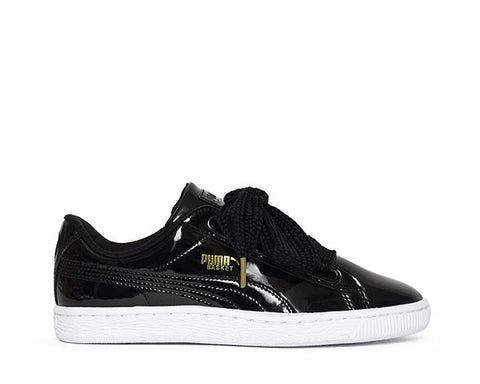 Puma Basket Heart Patent Black