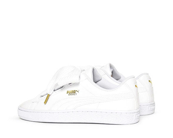 puma basket heart patent white noirfonce sneakers