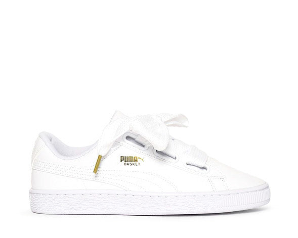puma heart satin basket