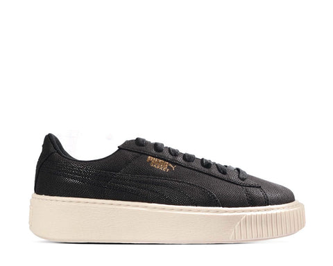 Puma Basket Platform Canvas Black
