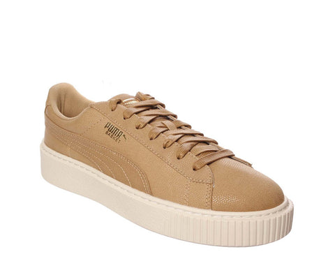 Puma Basket Platform Canvas Oatmeal