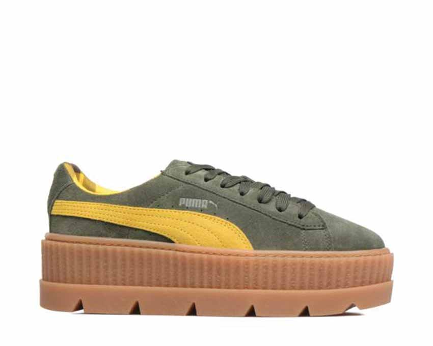 brand new 2f744 67f07 Puma x Fenty Cleated Creeper Green Yellow