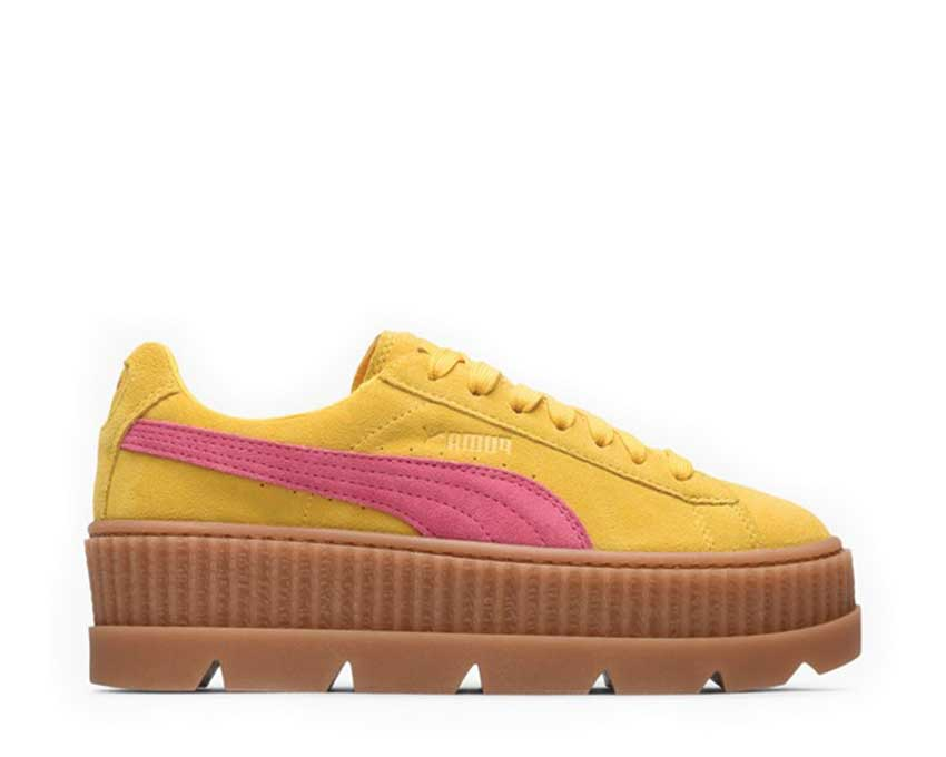 uk availability 57edf a49a5 Puma x Fenty Cleated Creeper Yellow Pink