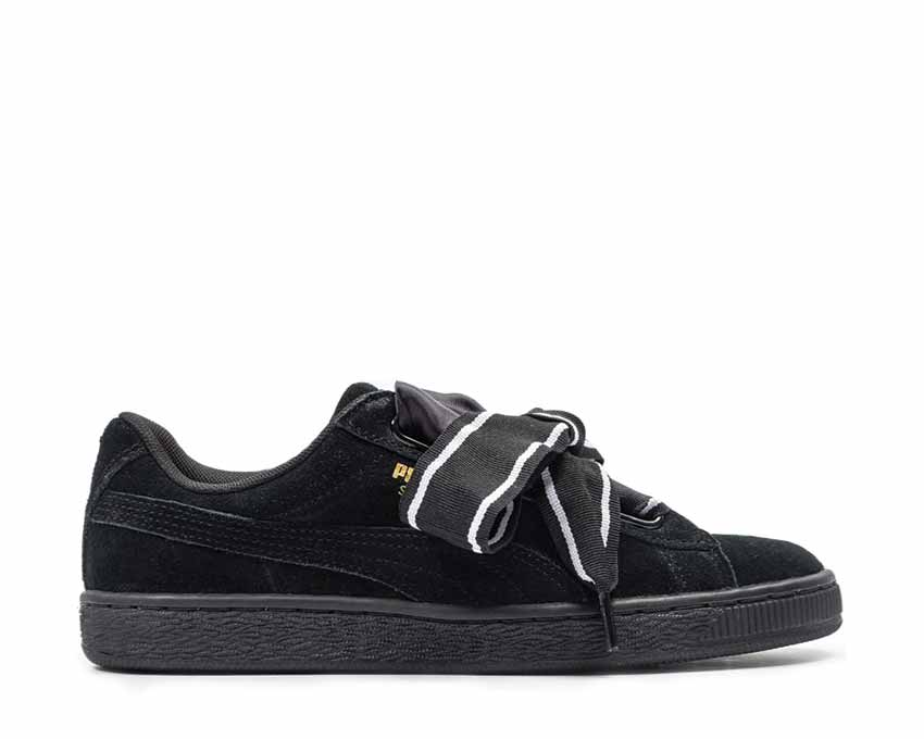 separation shoes fb2b9 855a0 Puma Suede Heart Satin II Black