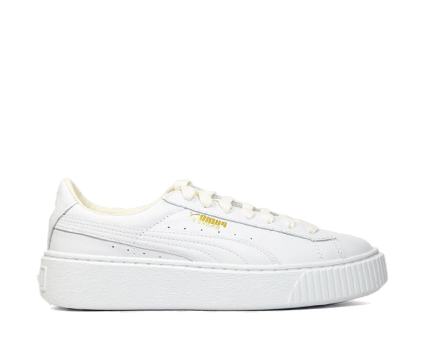 puma basket platform core white
