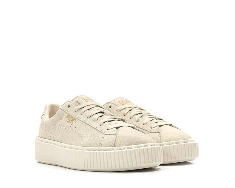 low priced 5688f 44bdc Puma Suede Platform Mono Satin Beige