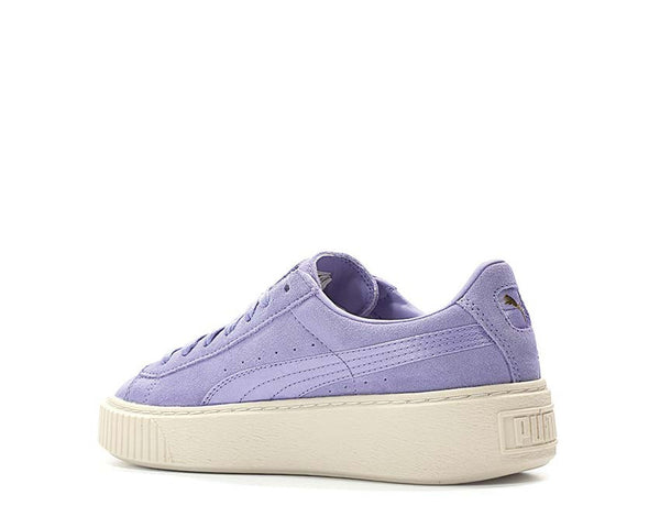puma suede platform mono satin lilac noirfonce sneakers. Black Bedroom Furniture Sets. Home Design Ideas
