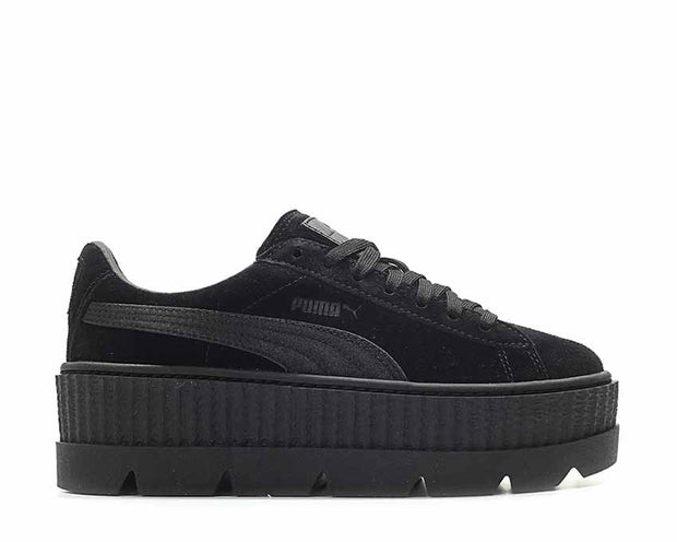 outlet store f5ce2 c8412 Puma x Fenty Cleated Creeper Black Suede NOIRFONCE Sneakers