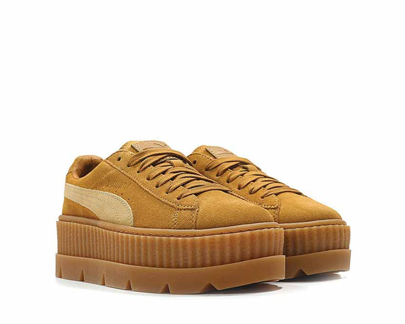 best cheap f7f3d c13f2 Puma x Fenty Cleated Creeper Golden Brown Suede