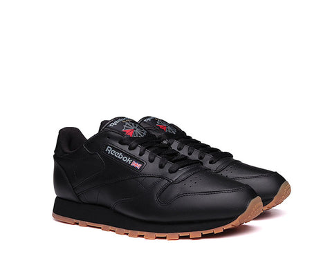 Reebok Classic Leather Black Gum