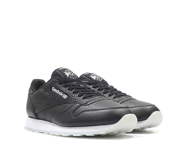 Reebok CL Leather ID Black White NOIRFONCE Sneakers 7aac2a838e29