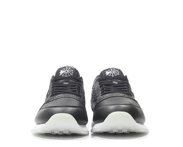 dd21cd9a8ed Reebok CL Leather ID Black White NOIRFONCE Sneakers