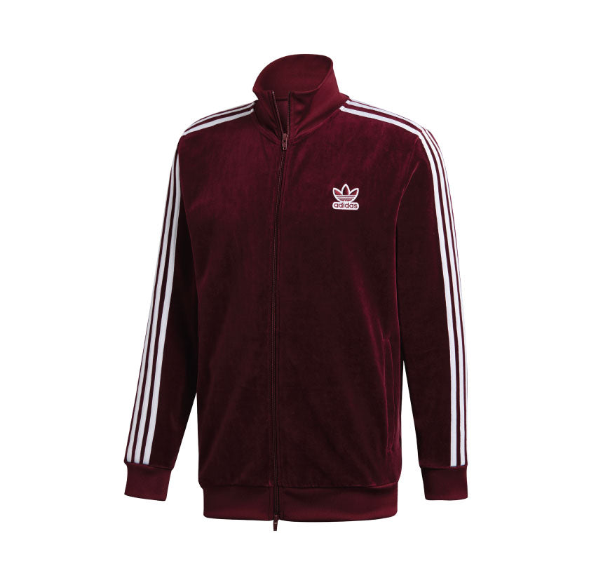 Adidas BB Velour Track Jacket Maroon DH5789
