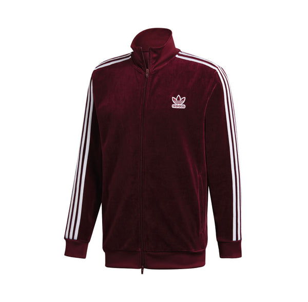 detailed look e9404 22dfa Adidas BB Velour Track Jacket Maroon DH5789 ...