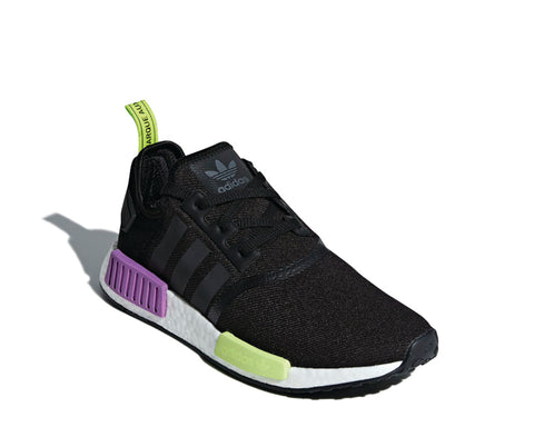 Adidas NMD R1 Black Purple Shot