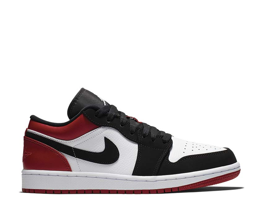 Jordan Air Jordan 1 Low White Black Gym Red 553558-116