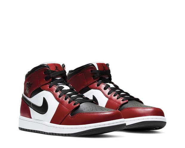 buy the air jordan 1 mid gym red 554724 069 noirfonce nike