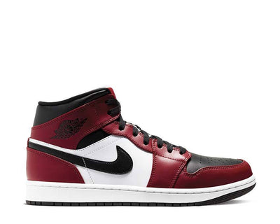 Air Jordan 1 Mid Black / Black - Gym Red 554724-069