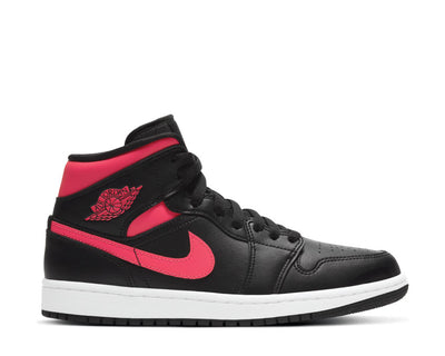Air Jordan 1 Mid Black / Siren Red - White BQ6472-004