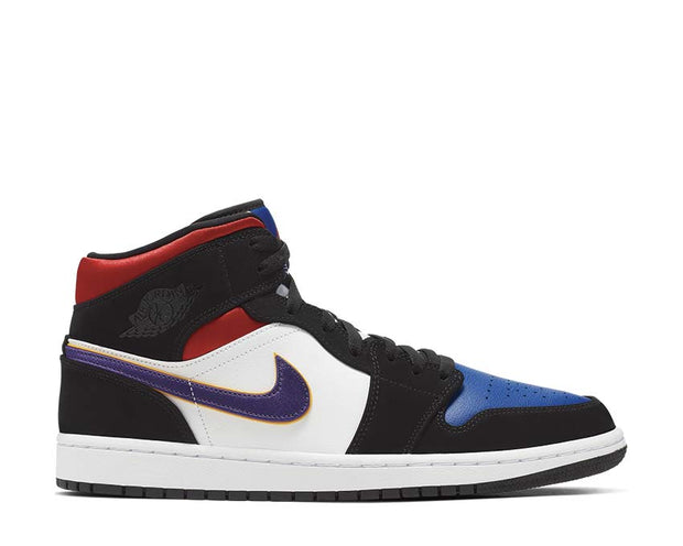 Air Jordan 1 Mid SE Field Purple/White-Gym Red 852542-005