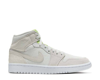 Wmns Air Jordan 1 Mid Vast Grey / Vast Grey - Ghost Green - White CV3018-001