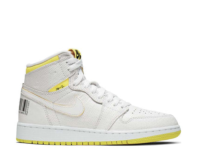 Air Jordan 1 Retro High First Class Flight GS White / Dynamic Yellow - Black - Gym Red 575441-170