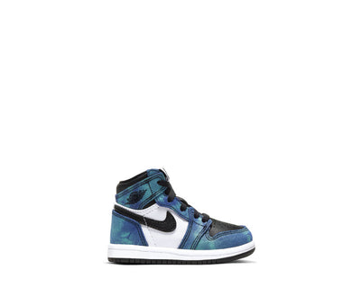 Air Jordan 1 Retro High Tie Dye TD White / Black - Aurora Green CU0450-100