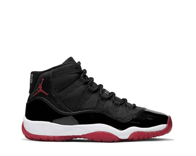 Air Jordan 11 Bred Black True Red White 378038-061