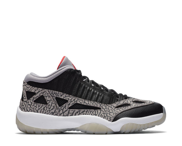 Air Jordan 11 Retro Low IE Black / Fire Red - Cement Grey - White 919712-006