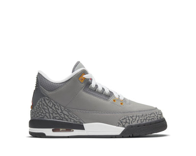 Air Jordan 3 Retro Silver / Sport Red - LT Graphite - Orange Peel 398614-012