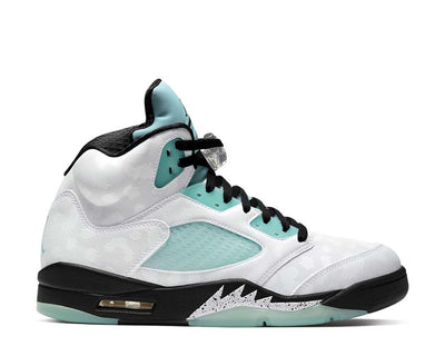Air Jordan 5 Retro White / Black - White - Island Green CN2932-100