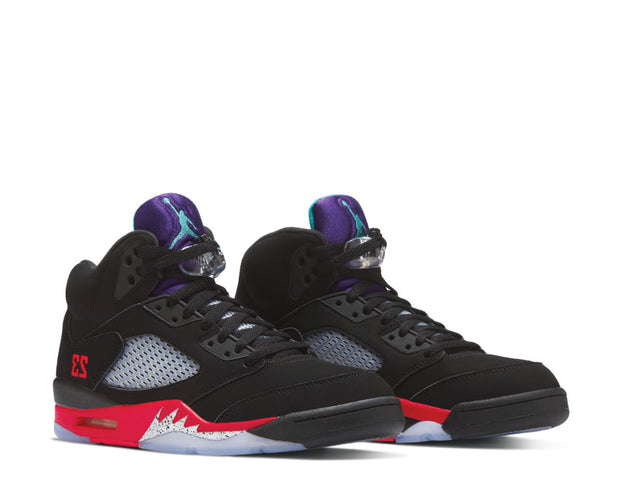Air Jordan 5 Black / New Emerald - Fire Red - Grape Ice CZ1786-001