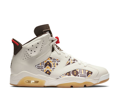 Air Jordan 6 Retro Quai 54 Sail / Baroque Brown - Team Orange CZ4152-100