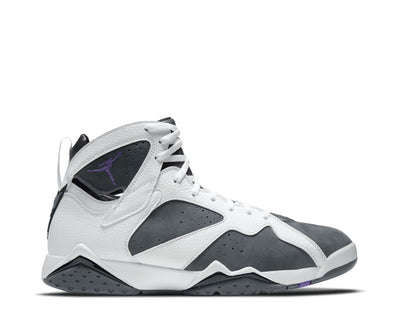Air Jordan 7 Retro White / Varsity Purple - Flint Grey - Black CU9307-100