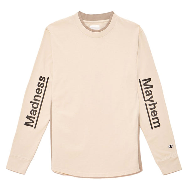 Champion By Wood Wood Henry Long Sleeve T Shirt Noirfonce