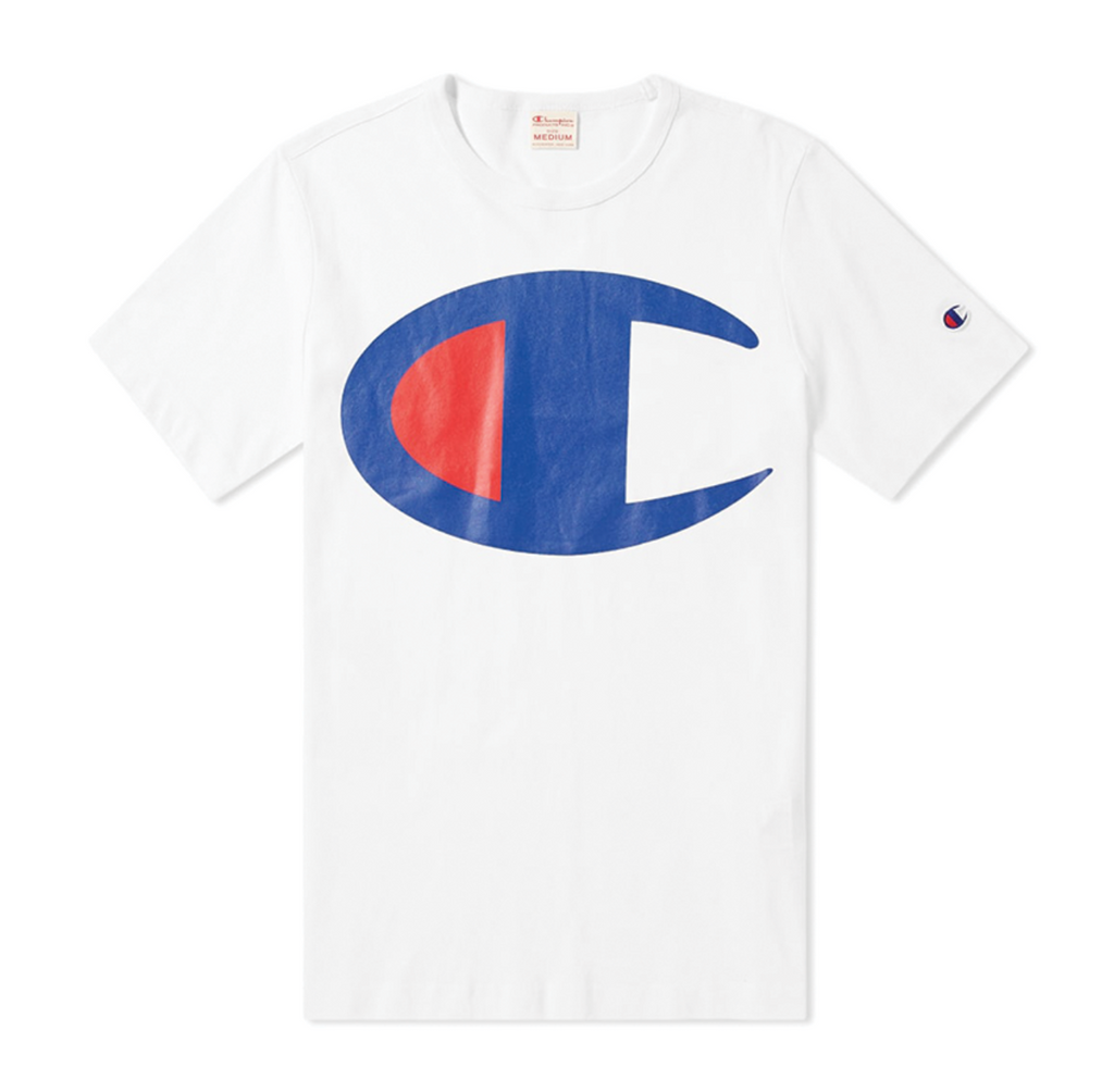 Champion Large C Tee White