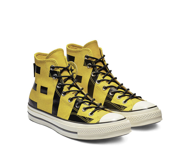 Converse Chuck 70 GORE-TEX Leather High Top Bold Citron Black Egret 163226C