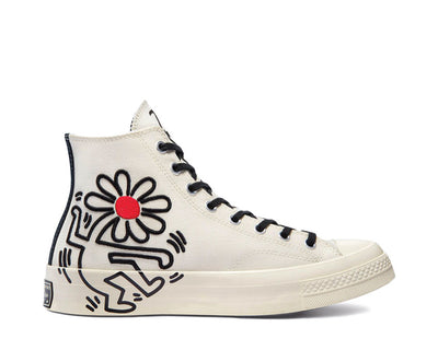 Converse Chuck 70 Hi Egret / Black / Red / Light Bone 171858C