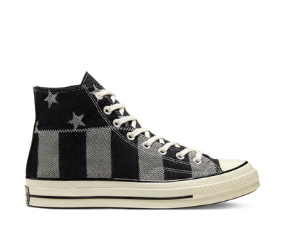 Converse Chuck 70 High Top Stars And Stripes Black / White / Egret 167709C