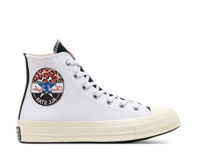 Converse Chuck 70 Logo Play Hi White / University Red - Rush Blue 166747C