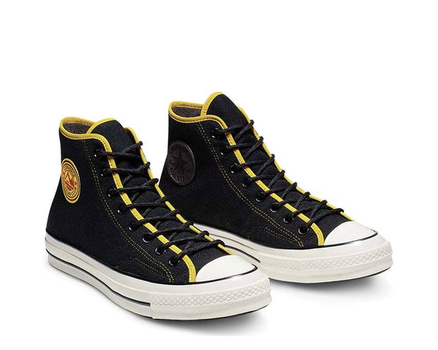 Converse East Village Explorer Chuck 70 High Top Black / Vivid Sulfur / Egret 165926C