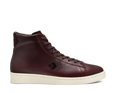 Converse X Horween Pro Leather High Top Ganache Egret Black 168750C