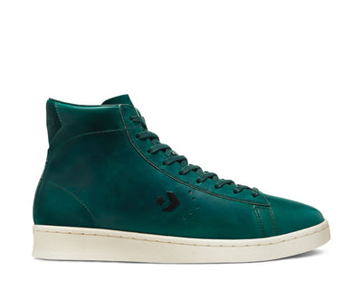Converse X Horween Pro Leather High Top Lyons Blue Egret Sea Moss 168751C