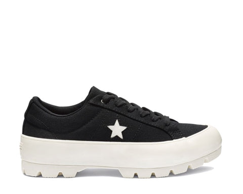 Converse One Star Platform Lugged Noir