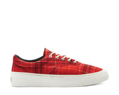 Converse Twisted Plaid Skid Grid Low Top Haute Red / Egret / Butter Cup 169219C