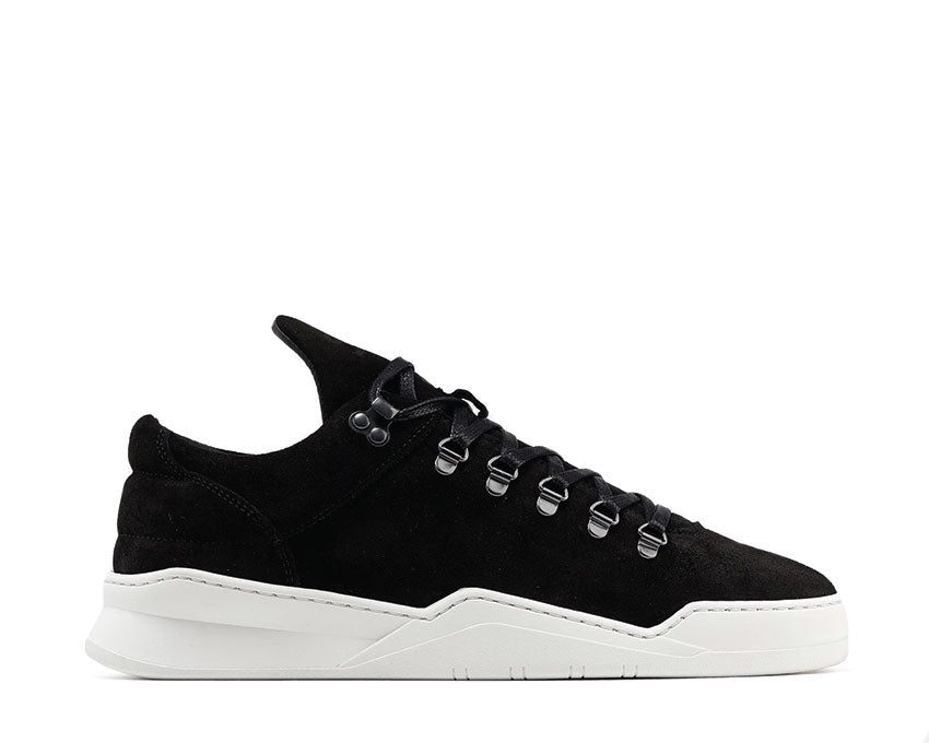 Filling Pieces Mountain Cut Ghost Waxed Suede Black White 2962259