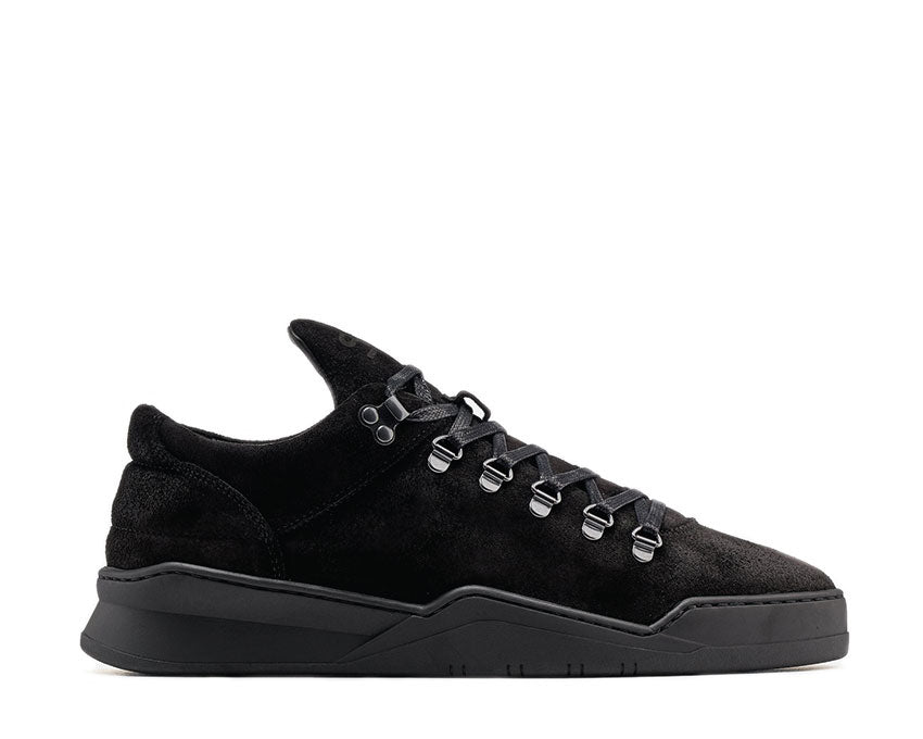 Filling Pieces Mountain Cut Ghost Waxed Suede All Black 2962259
